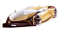sketchstorm-fb:  Marussia B3 sketches by Maxim Shershnev