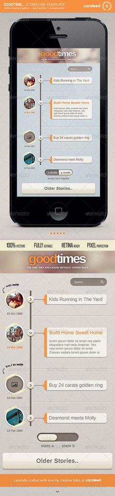 GoodTime - Retina Timeline UI Template