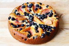 Peach and Blueberry Greek Yogurt Cake