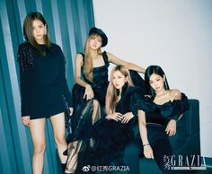 blackpink, lisa, and rose image Kim Jennie, Girls Generation, South Korean Girls, Korean Girl Groups, Blackpink Wallpaper, K Pop, Grazia Magazine, Blackpink Members, Black Pink Kpop