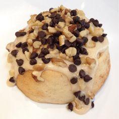 Gourmet Cinnamon Rolls (Vegan) Walnut Turtle! Caramel Frosting, Walnuts & Chocolate Chips! www.cinnaholic.com