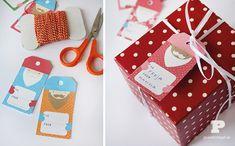 5 etiquetas para regalos de Navidad Etiquetas originales para los regalos de Navidad. Etiquetas para imprimir o para hacer en casa, personaliza tus regalos de Navidad con estas etiquetas.