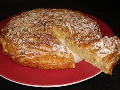 pastel griego ruffle milk pie