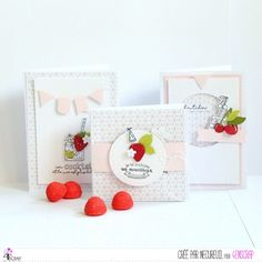 Cherries & Berries with pale pink card -- Le blog de Necureuil