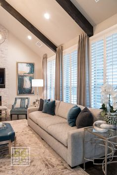 Contemporary Details And A Tight Color Palette Give Luster To This Living  Room Designed By Baker