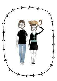 Custom illustration por NuriaDiazShop en Etsy