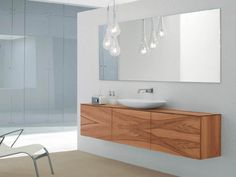 furniture modish small bathroom storage cabinets for floating vanity unit from plywood furniture board using oak veneer sheet with oval porcelain vessel sink also clear glass pendant shade