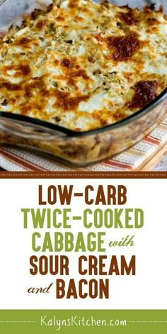 Kalyn's Kitchen® You saved to The Best Keto We swooned over this Low-Carb Twice-Cooked Cabbage with Sour Cream and Bacon when we tested the recipe, and this dish is also gluten-free. I'd eat it as an occasional treat for the South Beach Diet too, Keto Cabbage Recipe, Cabbage And Bacon, Cooked Cabbage Recipes, Turkey Bacon Recipes, Keto Recipes With Bacon, Creamed Cabbage, Bacon Food, Hamburger Recipes, Chicken Recipes