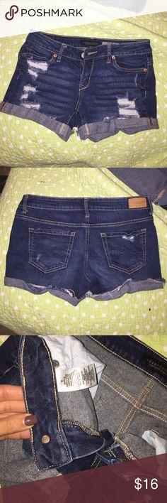 Aero midi shorts Ripped jean shorts Aeropostale Shorts Jean Shorts