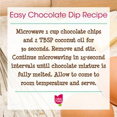 Dessert decorating ideas, tips, and more are yours for the baking from Cake Mate. No Bake Desserts, Just Desserts, Delicious Desserts, Dessert Recipes, Chocolate Dip Recipe, Chocolate Dipped, Dip Recipes, Cooking Recipes, Cooking Hacks