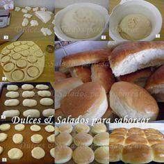 Dulces y Salados para saborear: RECETA DE PAN PARA: PEBETES, HAMBURGUESAS , PERRITOS CALIENTES (PANCHOS)