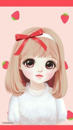 Find images and videos about fashion, cute and beautiful on We Heart It - the app to get lost in what you love. Cartoon Girl Images, Cute Cartoon Girl, Cool Anime Girl, Anime Art Girl, Cute Disney Drawings, Girly Drawings, Korean Illustration, Illustration Girl, Cute Kawaii Girl