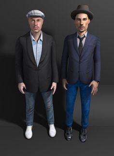 "Kolkoz exploring the virtual world as video game characters in ""Kolkoz.org"" 2002"