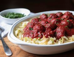 (Nightshade Free!) Sweet and Sour Meatballs over Cabbage AKA Deconstructed Stuffed Cabbage - save time bypassing the fill-tuck-and-roll step of stuffing cabbage, yet still have all the flavors of the classic. But no need to limit these meatballs to just cabbage. Gluten Free, Dairy Free, Tomato Free, Egg Free, Soy Free and Paleo Friendly recipe!