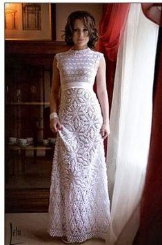 Graficos y Crochet: Vestido de Novia...