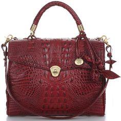 Brahmin Julia Rose Satchel Bag found on Polyvore