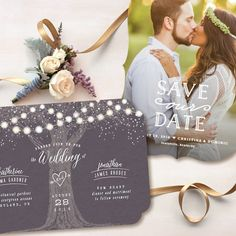 Garden Lights Save the Date and Sweet Embrace Save the Date//Wedding invitations by Hooray Creative