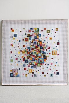 Stretched needlepoint canvas.- looks like such fun!