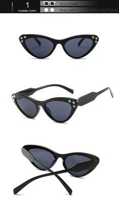 9006e1627c Huhaitang Luxury Brand Diamond Sunglasses Women Cat Eye Female Sexy Triangle  091