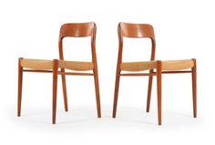 Six Moller Model 75 Dining Chairs - Mr. Bigglesworthy Designer Vintage Furniture Gallery