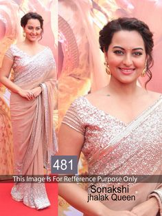 Sonakshi Sinha Peach Color Saree @ Lowest Price For Order, Visit >>  http://goo.gl/yQH30i
