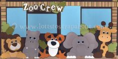 Zoo Crew Scrapbook Page Kit