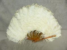 BEL EVENTAIL, ancien, en plumes d autruche.