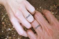 infinity tattoos instead of wedding rings