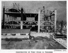 Construction of the first stage of the Colodense factory [cellophane] in Bristol during 1951.