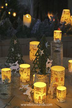 Bientôt, nos photophores exclusifs de Noël ! Bougie Led, Decoration Table, Pillar Candles, Diy, Christmas Lanterns, Lantern Candle Holders, Japanese Paper, Christmas Tabletop, Noel