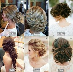 simple & sweet wedding dos #HotelSeven4One #WeddingHair  I love the top right one!