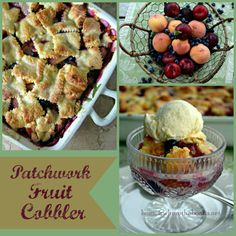 Patchwork Fruit Cobbler-Home Is Where the Boat is