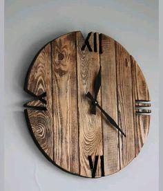 Rustic stylish reclaimed timber clock
