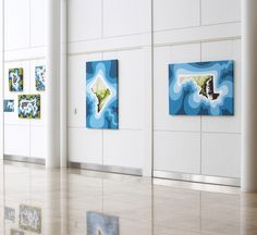 Iconic Abstract Maps by Bhaval Shah Bell at Johns Hopkins University Montgomery County Campus. Nov 5 - Jan 18.