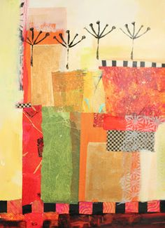 abstract collage by the amazing Jane Davies / Collage Journeys