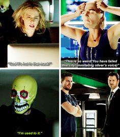 #FelicitySmoak + Masks #Arrow #Season5
