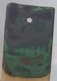 Alisa Clausen |  Pinnell Weathered Bronze ^6 oxidation matt glaze (recipe in link).
