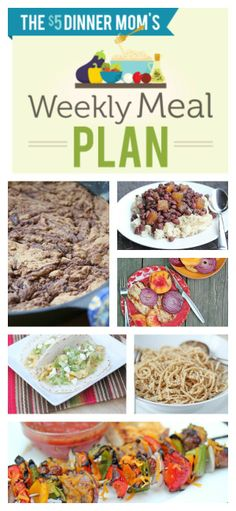 Weekly Meal Plan with Free Printable Grocery List ~ week of May 18th | 5DollarDinners.com