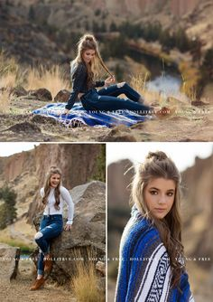 Bend, Oregon high school senior pictures at Smith Rock by Eugene senior portrait photographer, Holli True