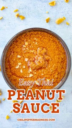 Thai peanut sauce is more traditionally made with roasted peanuts, coconut milk, fish sauce and lots of fresh ingredients and seasonings, but this is an EASY version made with peanut butter and easily obtained dry and wet ingredients. Perfect for those who LOVE peanut butter and like things a bit spicy. AND who are strapped for time.