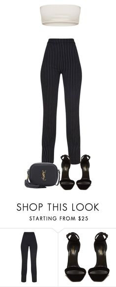 """""""Untitled #5548"""" by theeuropeancloset ❤ liked on Polyvore featuring Yves Saint Laurent"""
