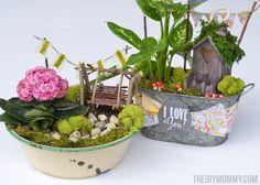 Mini Fairy Garden by The DIY Mommy