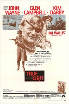 True Grit (1969) A drunken, hard-nosed U.S. Marshal and a Texas Ranger help a stubborn teenager track down her father's murderer in Indian territory . John Wayne won the Academy Award for Best Picture for his performance in this movie. His only one for this great American film icon.