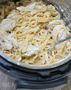 Instant Pot Chicken Fettuccine Alfredo – Hip2Save