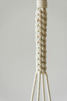 Macramé Plant hanger using 5 mm cotton rope.