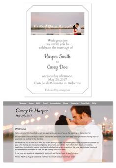 Hummingbird Wedding Website Design From GlositeCom Custom