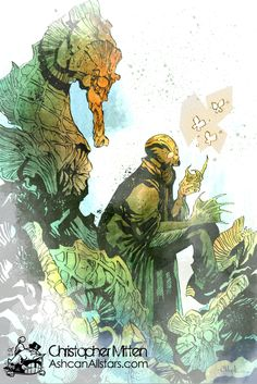 """The Evolution of Abe Sapien"" by Christopher Mitten for ""The Evolution of Abe Sapien"" Week at Ashcan All-Stars to celebrate the contest by our friends at Multiversity Comics."