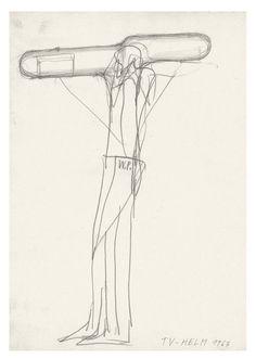 Walter Pichler, TV-Helm, 1967 Courtesy Contemporary Fine Arts, Berlin