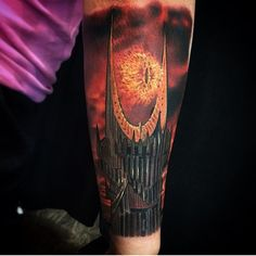 Eye of Sauron tattoo