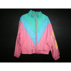 Vintage pastel multi color windbreaker by COLOR CUES in XL - Polyvore